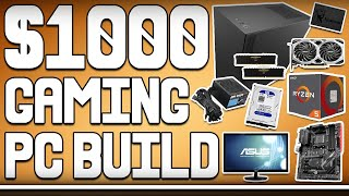 AWESOME $1000 Full Setup Gaming PC Build - Includes Monitor, KBM and OS
