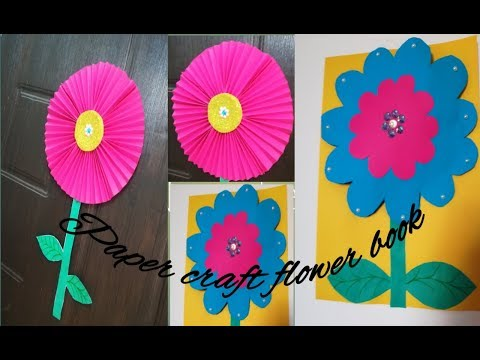 DIY how to make a Paper flower craft book
