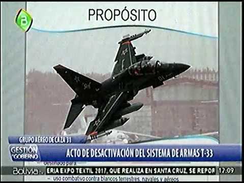 Ceremonia de desactivacion del sistema de Armas de las Aeronaves T-33