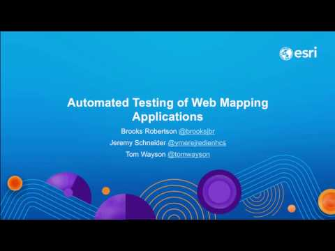 Automated Testing of Web Mapping Applications