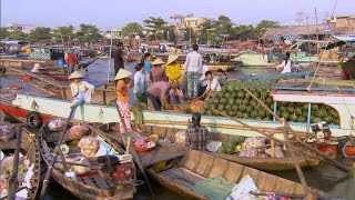 The Mekong Delta's floating marketplace
