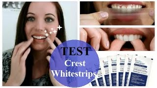 [Ze test] Blanchiment des dents avec Crest Whitestrips