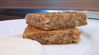 Крупеник из гречневой крупы видео рецепт. Книга о вкусной и здоровой пище