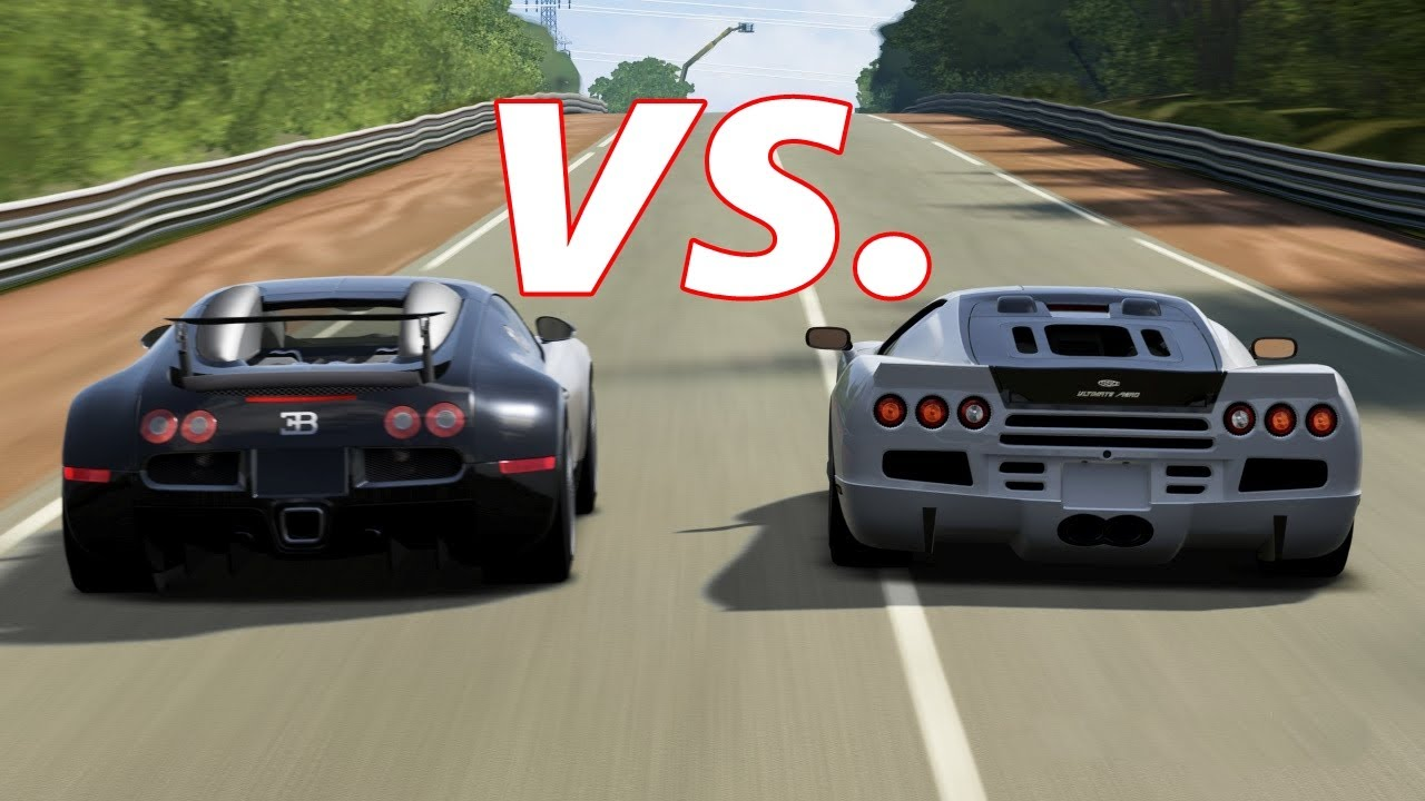 FORZA 4 | SSC Ultimate Aero vs. Bugatti Veyron and Veyron ...