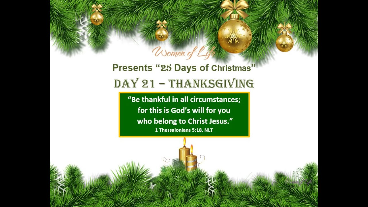 25 Days of Christmas - Day 21 - Thanksgiving