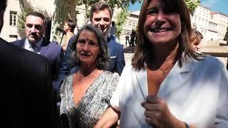 Elections à Marseille :  Michèle Rubirola sort saluer les Marseillais