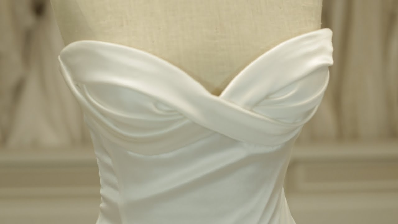 Dramatic Fit and Flare Wedding Dress | March MadDRESS - YouTube