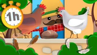 Une Poule sur un Mur - 1h de Chansons pour les Petits