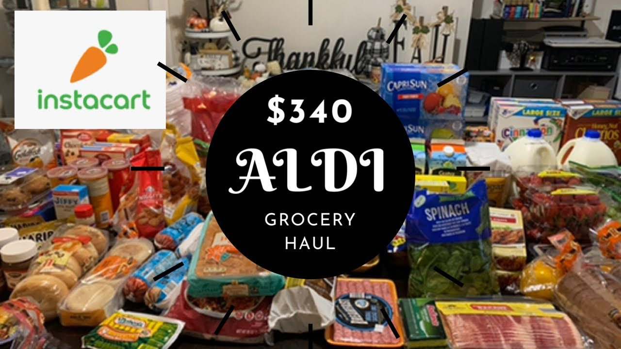 $340 ALDI INSTACART GROCERY HAUL / SICK MOM EDITION / 1ST TIME USING INSTACART / SHYVONNE MELANIE TV