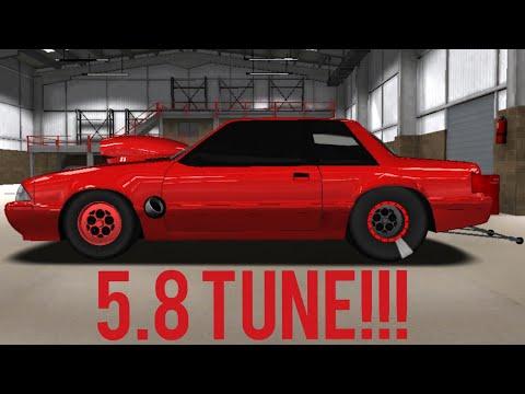 PRO SERIES DRAG RACING 5.8 TUNE!!! (Mustang Foxbody)