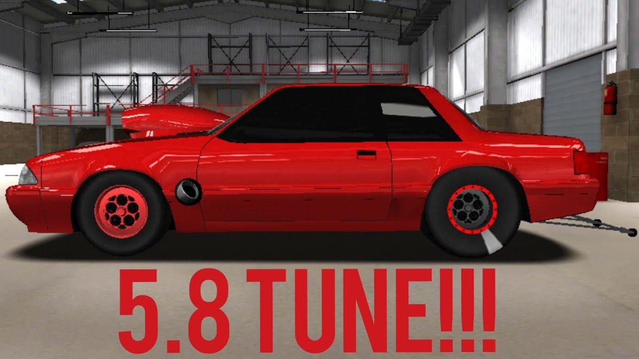 PRO SERIES DRAG RACING 5 8 TUNE!!! (Mustang Foxbody)