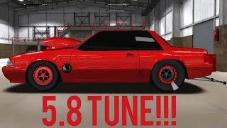 PRO SERIES DRAG RACING 5.8 TUNE!!! (Mustang Foxbody)