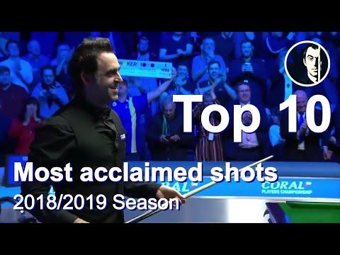 Top 10 Snooker Shots of the Season 2018/2019