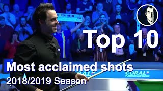 Top 10 Snooker Shots of the Season 2018/2019