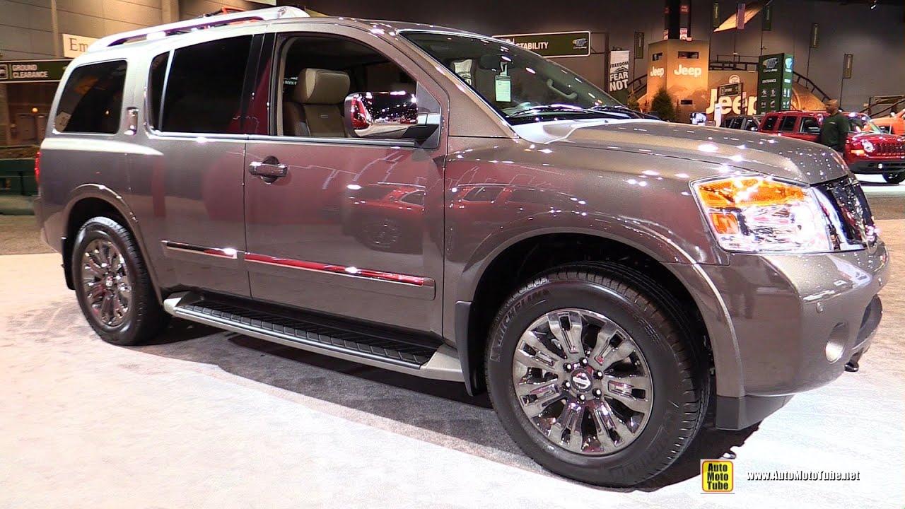 2015 nissan armada platinum reserve - exterior and interior