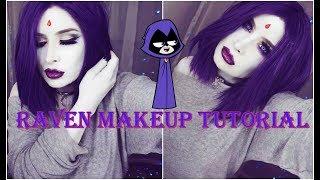 Teen Titans Raven Makeup Tutorial Halloween Look Inspired by Gabriel Picolo 39 s Art JordeeKai