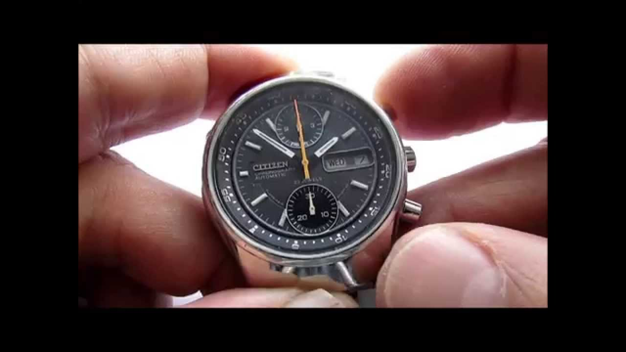6f5148740 Citizen Chronograph Automatic Wrist Watch Cal 8110A - YouTube
