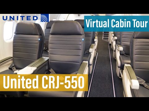 United's CRJ-550 First Class & Economy Class | Virtual Cabin Tour