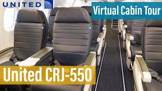 United's Crj 550 First Class & Economy Class   Virtual Cabin Tour