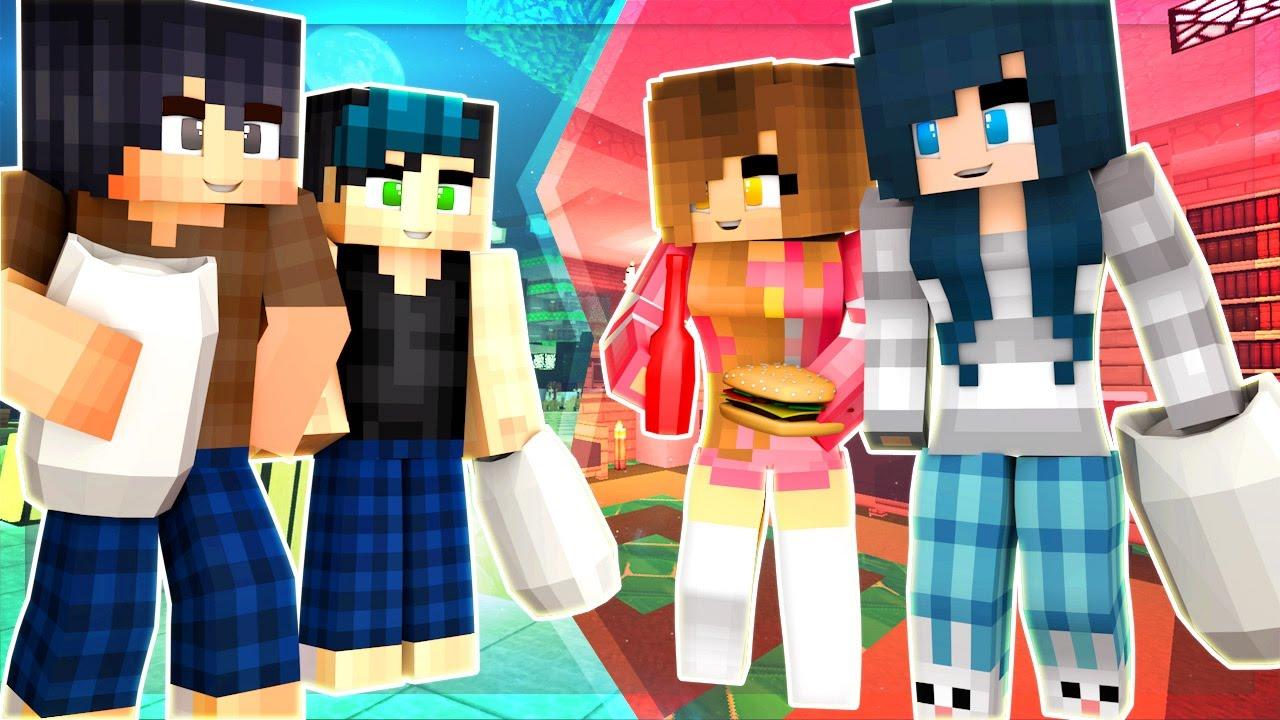 Yandere High School - BOYS vs. GIRLS SLUMBER PARTY PRANK WARS!! [S2: Ep.37 Minecraft Roleplay]