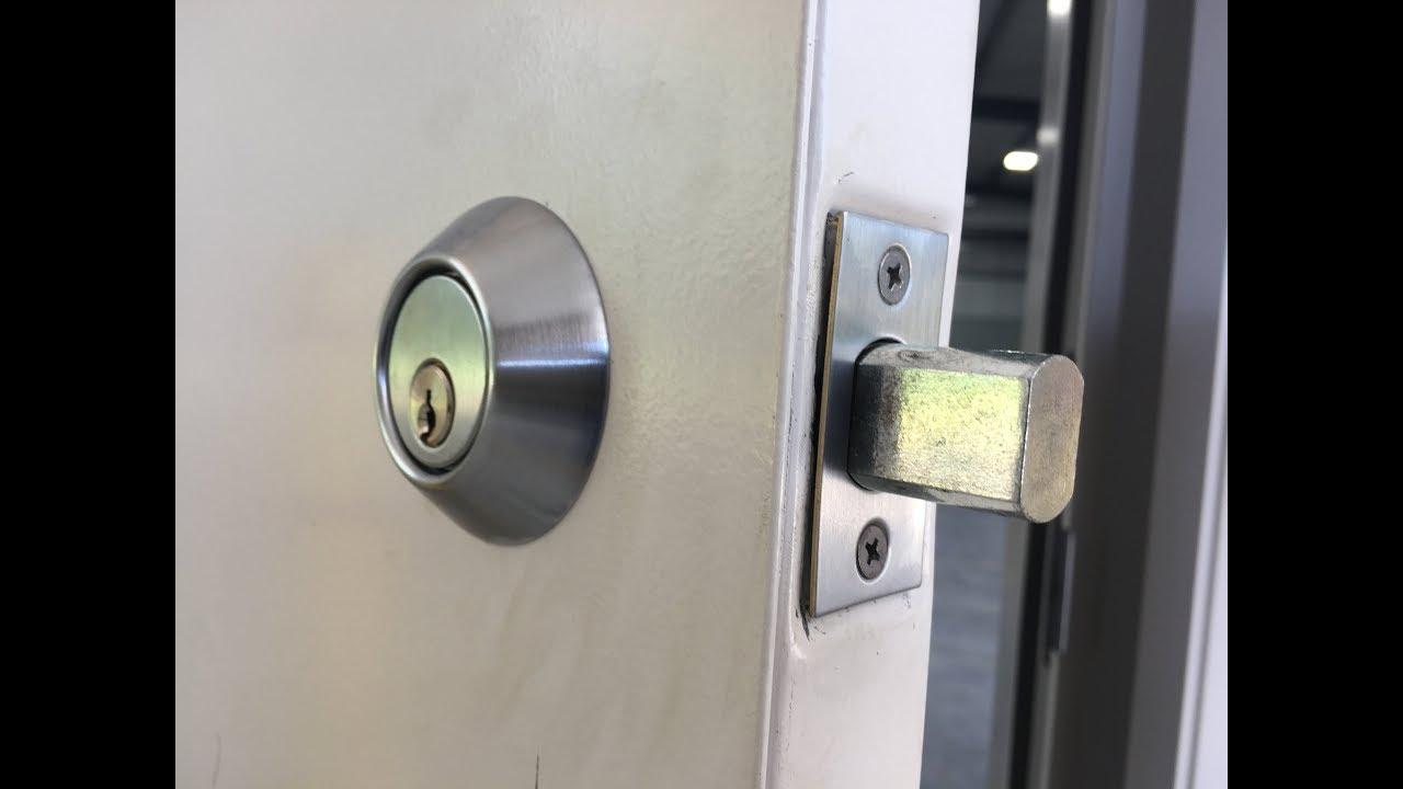 Lori Deadbolt Installing Metal Door Squeeze Play Youtube