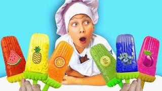 Lev makes fruit Ice Cream