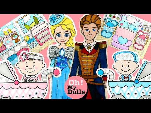 DIY DOLLHOUSE QUIET BOOK FOR FAMILY PAPER DOLLS BABY CARING AND DRESSING UP PAPER CRAFTS FOR KIDS