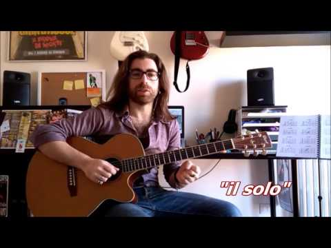 Wish you were here (Pink Floyd) - intro & solo - tutorial by Claudio Macrì