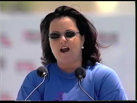 Rosie O'Donnell Speaks at the Million Mom March,
