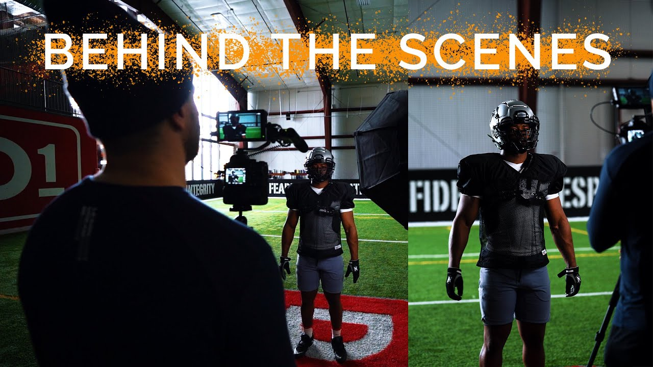 Behind the Scenes of a Football Helmet Commercial