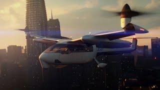 Летающий Электромобиль,  Электросамолет Будущего, Технологии Будущего, Технология Красоты Будущего.