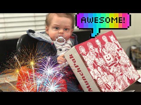 Reborn Baby Trying Exotic Treats! MunchPak Box Opening!