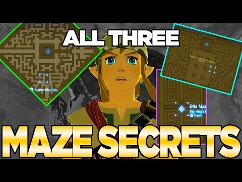 3 Labyrinth Secrets in Breath of the Wild! Easy Maze Completion & Barbarian Armor