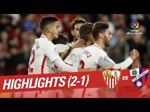 Resumen de Sevilla FC vs SD Huesca (2-1)