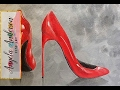Sexy Red Stilettos Acrylic Painting Tutorial How to Paint Women's High Heel Pumps #ladiesnight