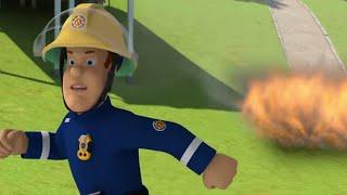 Sam el Bombero Español 🌟Huyendo del fuego 🔥Dibujos animados