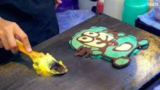 Pancake Paintings - Street Food in Bangkok Thailand