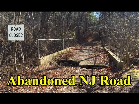 Abandoned And Forgotten Road With Bridges Monmouth County New Jersey
