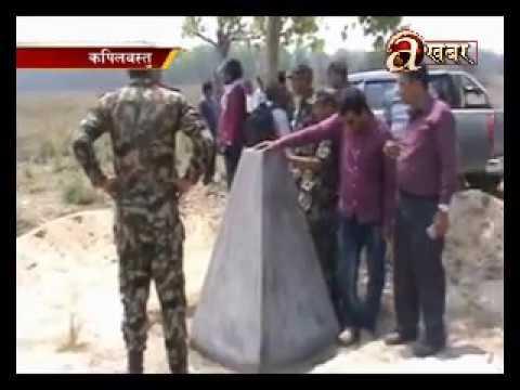 Joint Nepal-India investigation restore pillars at border area - Kapilvastu