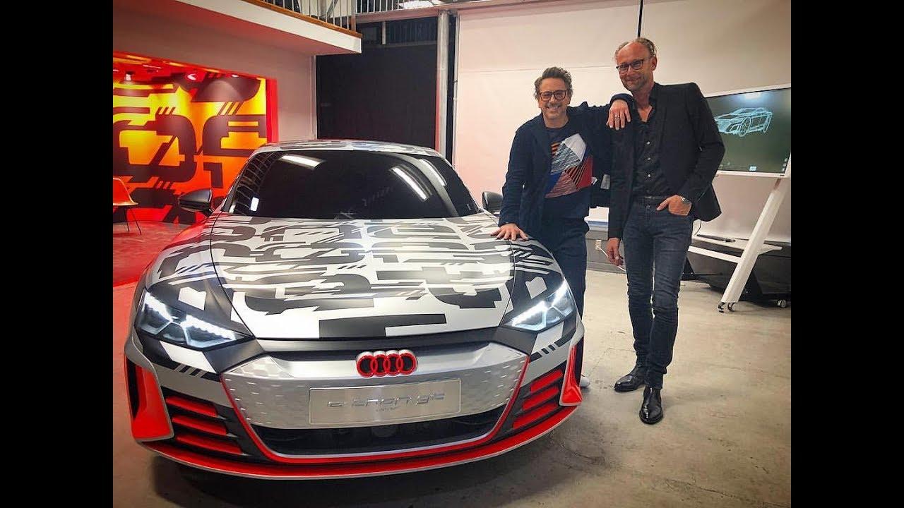 Robert Downey Jr Unveiling Audi E Tron Gt Youtube