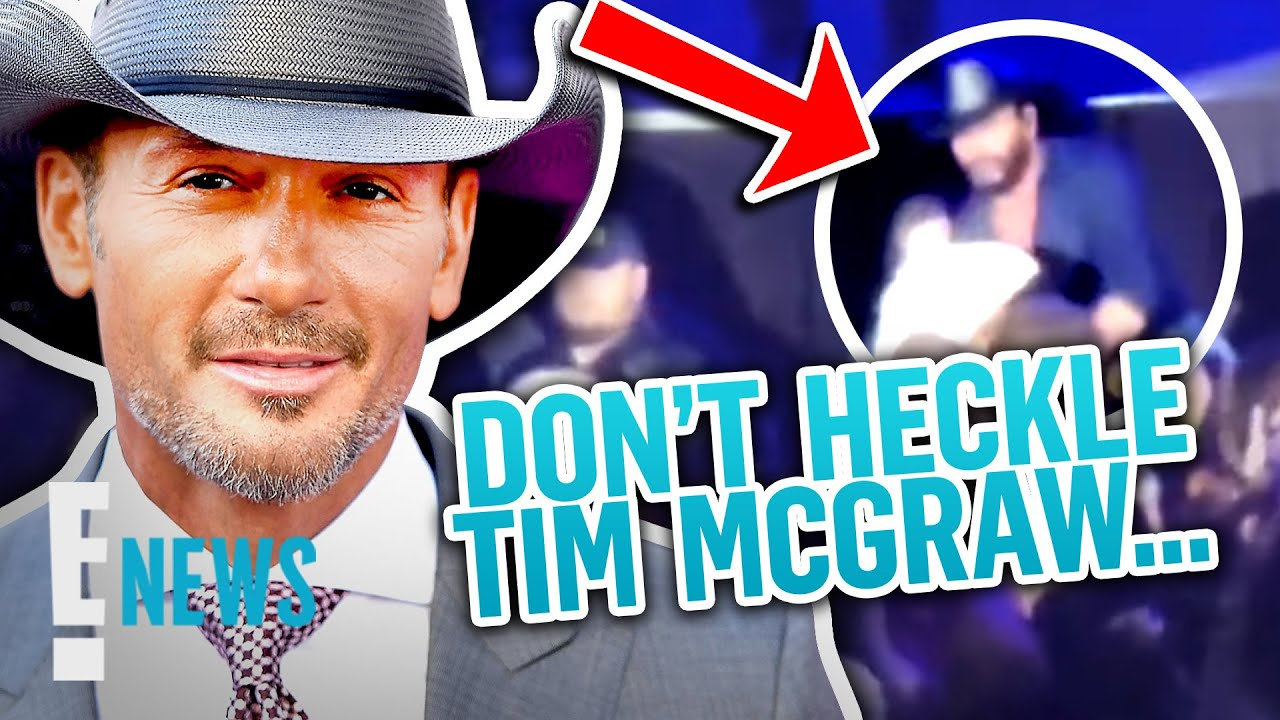 Tim McGraw Jumps Offstage to Confront Fan During Concert News