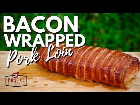 Bacon Wrapped Pork Loin Recipe – How To Smoke Pork Loin EASY