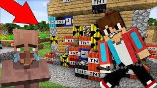 ЖИТЕЛЬ УЗНАЛ ЧТО КОМПОТ ХОЧЕТ ВЗОРВАТЬ ДЕРЕВНЮ ЖИТЕЛЕЙ В МАЙНКРАФТ 100 ТРОЛЛИНГ ЛОВУШКА Minecraft