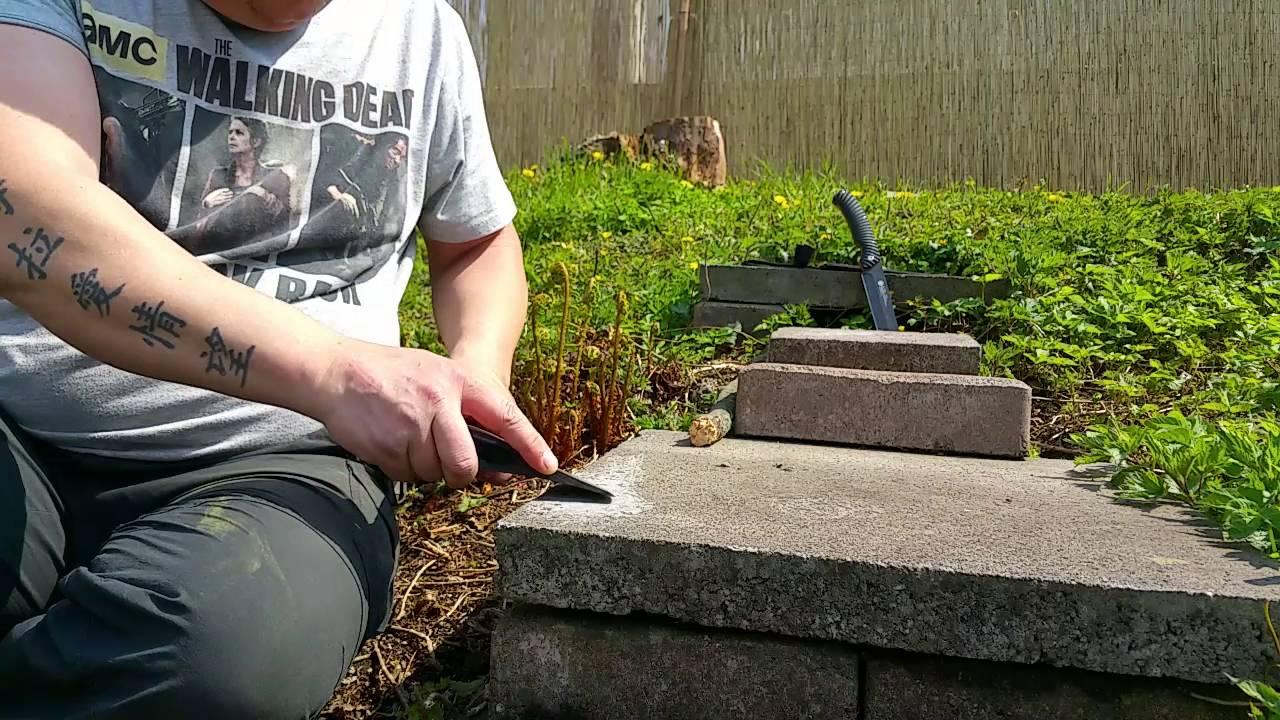 ✓how to: axt schÄrfen ohne tools auf einer beton platte - youtube