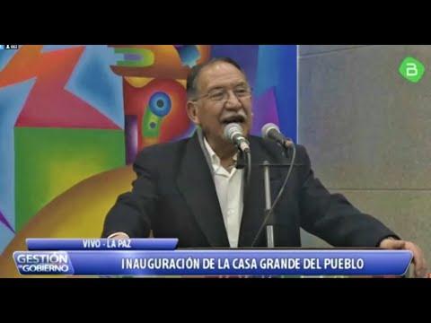Inauguración De La Casa Grande Del Pueblo La Paz Bolivia - Parte 1