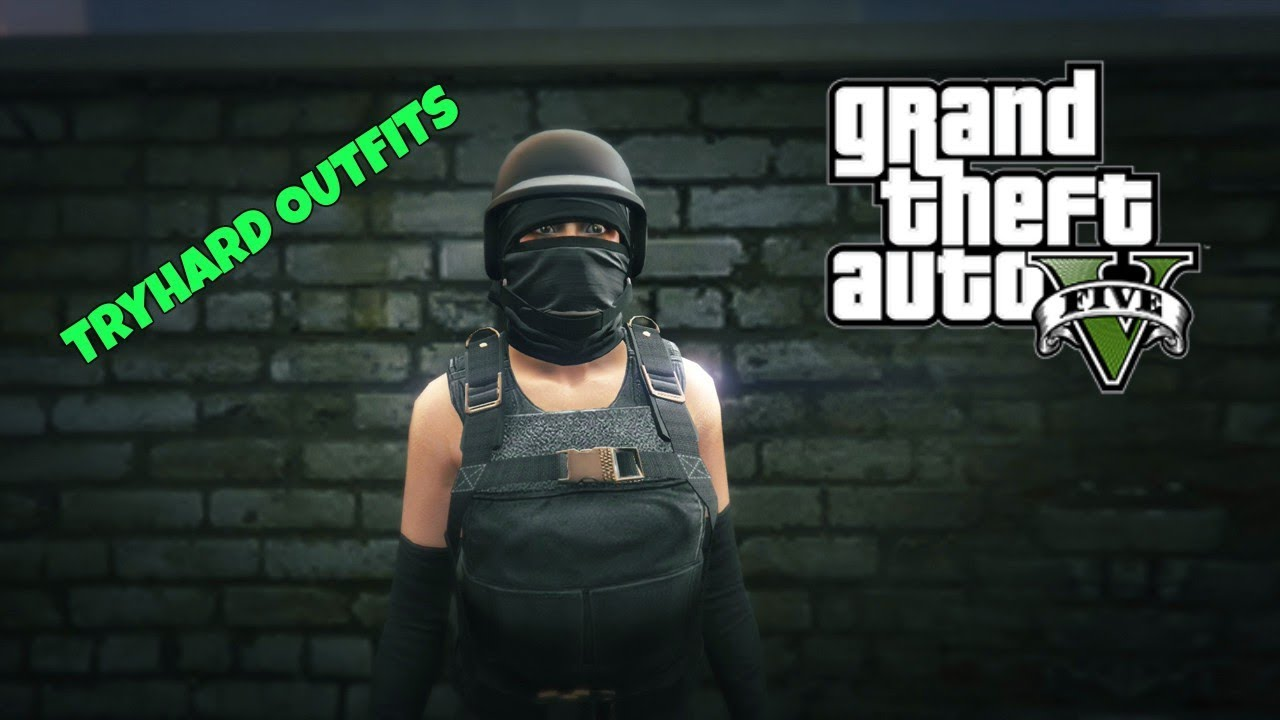 GTA ONLINE | TRYHARD OUTFIT TUTORIAL {FEMALE} How To Glitch A BP Helmet With Any Mask 1.39 ...