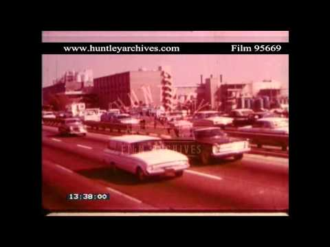 Los Angeles, 1960's.  Archive film 95669