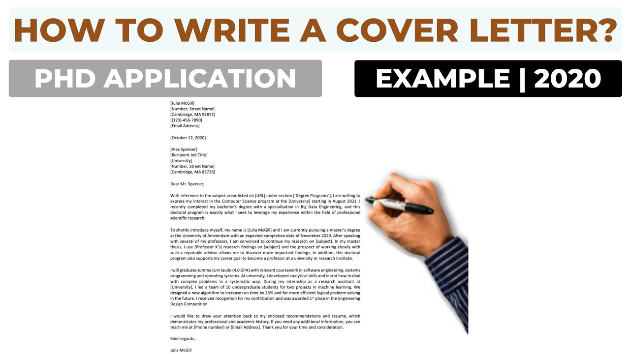 How To Write a Cover Letter For a PhD Application?  Example