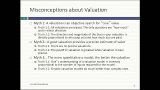 Session 2: The Bermuda Triangle of Valuation & the big picture