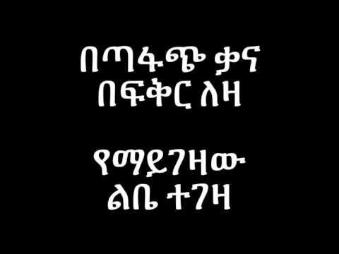 Kuku Sebsebe Agegnehu - Lyrics